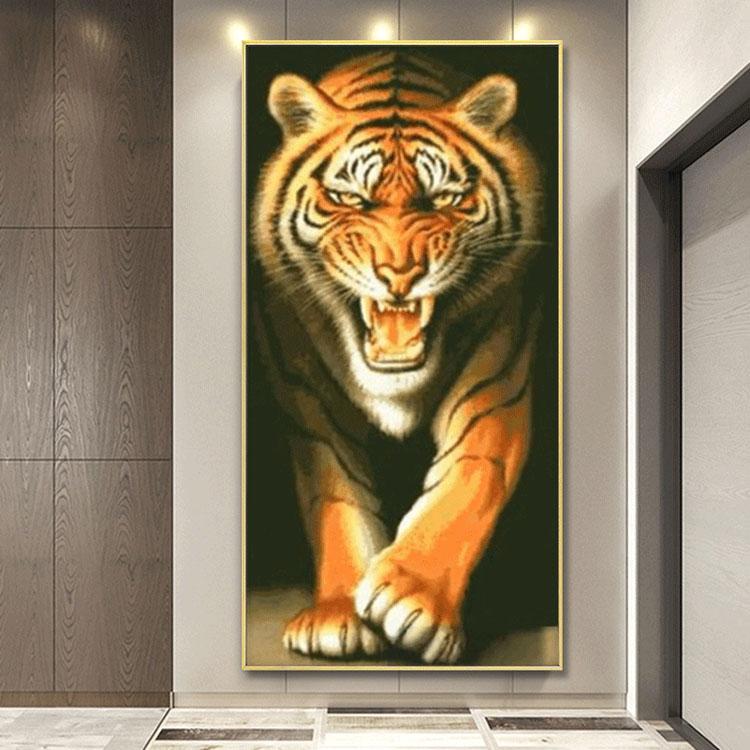Diamanttavla Tiger 50x100