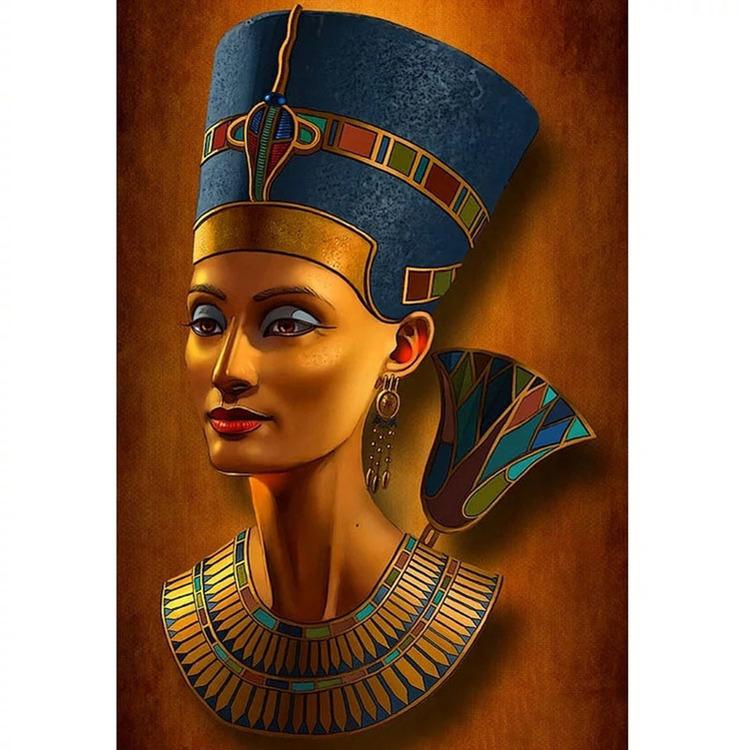 Diamanttavla (R) Egyptian Queen 50x70