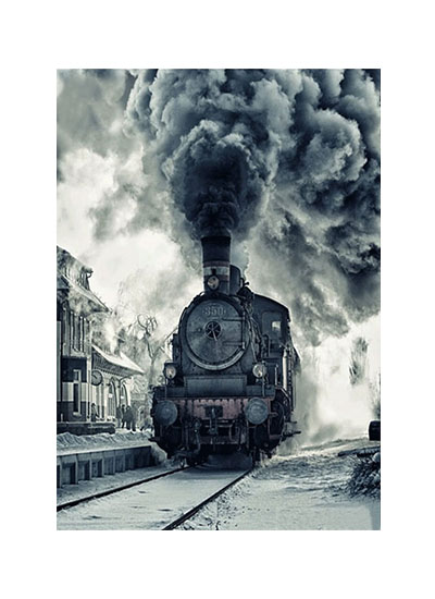Diamanttavla Old Train 40x50