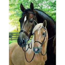 Diamanttavla Horses 40x50