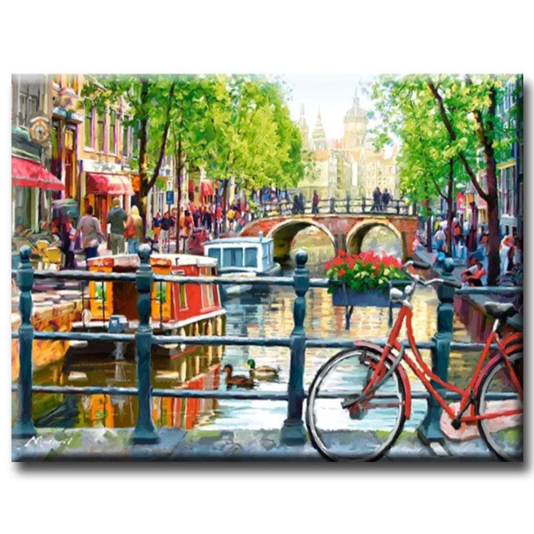 Diamanttavla City Amsterdam 60x80