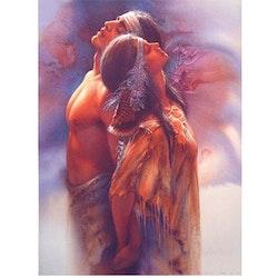 Diamanttavla (R) Indian Love Couple 50x70