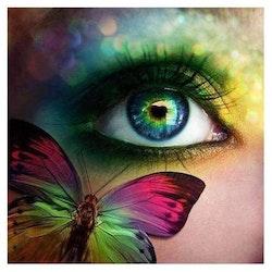 Diamanttavla Eye Shimmery 50x50