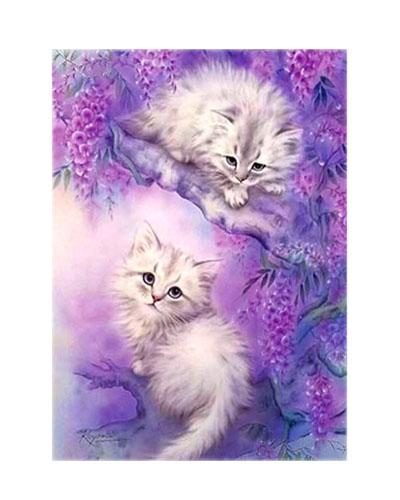 Diamanttavla Lovely Kittens 40x50