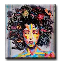 Diamanttavla Grafitti Woman 80x80