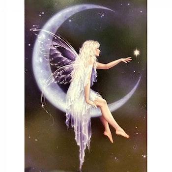 Diamanttavla Moon Fairy And Star 50x70