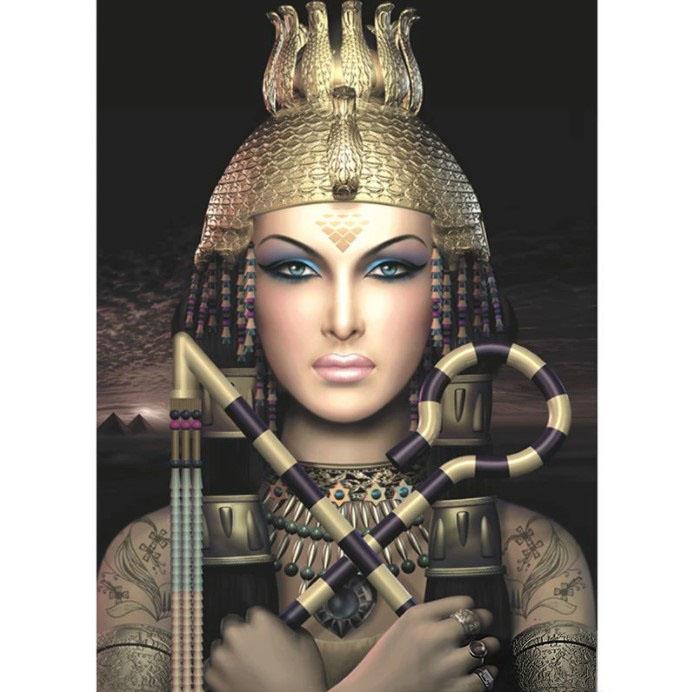 Diamanttavla Egyptian Woman 50x70