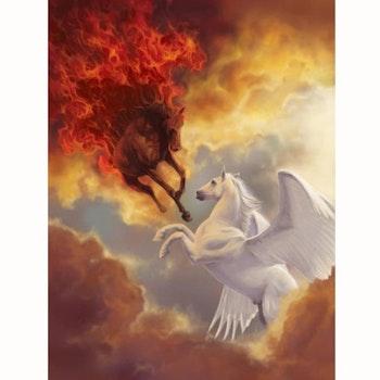 Diamanttavla Horses Heaven And Hell 50x70