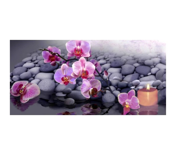 Diamanttavla Orchids 50x100