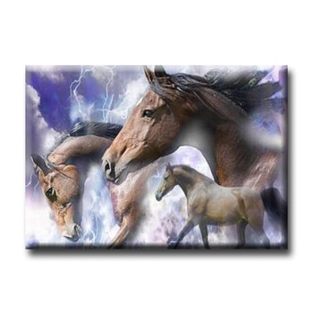 Diamanttavla Horses Thunder 50x70