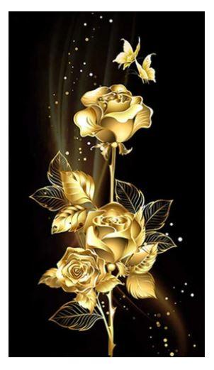 Diamanttavla Big Rose 50x100