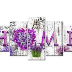 Diamanttavla 5 Delad Home Lavendel