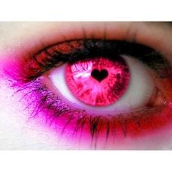 Diamanttavla (R) Pink Heart Eye 40x50