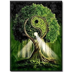 Diamanttavla (R) Tai Chi tree 40x50 - Leveranstid 1-3 Dagar