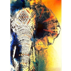 Diamanttavla Elephant Cartoon 50x70