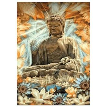 Diamanttavla Buddha Flowers 50x80