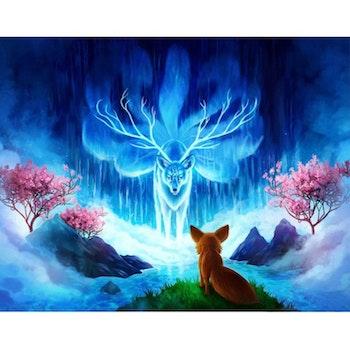 Diamanttavla (R) Fox And Wolf 50x70