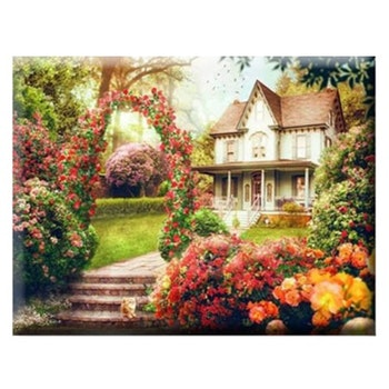 Diamanttavla House With Rosegarden 60x80