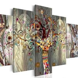 Diamanttavla 5 Delad Mosaic Tree