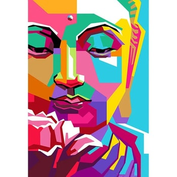 Diamanttavla (R) Buddha Color Art 40x50
