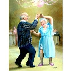 Diamanttavla Dancing Old Couple 50x70 - Leveranstid 1-3 Dagar