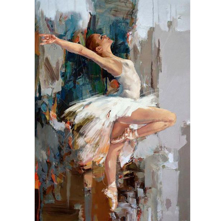 Diamanttavla Ballet Girl 40x50