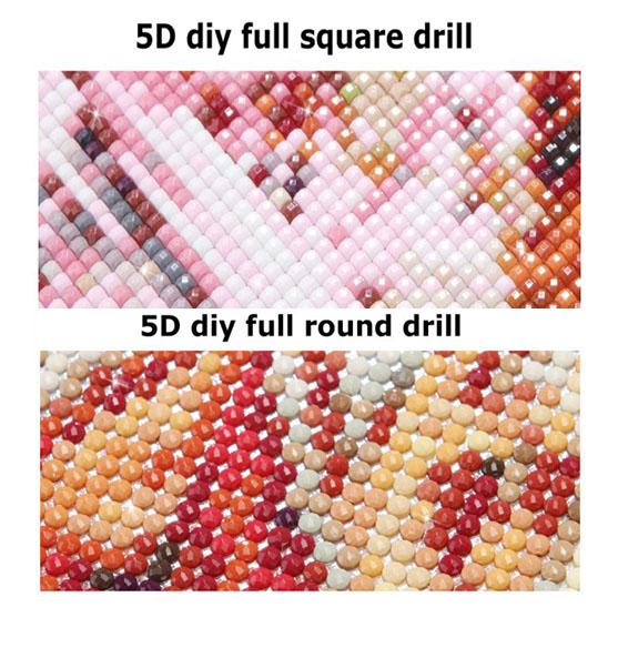Diamanttavla 5 Delad Mosaic Tree - Leveranstid 1-3 Dagar