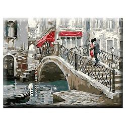 Paint By Numbers Lovers Bridge 40x50
