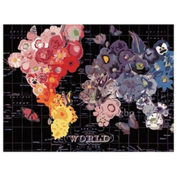 Paint By Numbers Flower Map 40x50