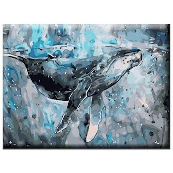 Paint By Numbers Ocean Whale 40x50 - Leveranstid 1-3 Dagar