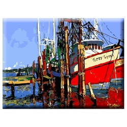 Paint By Numbers Shippers Boat 40x50
