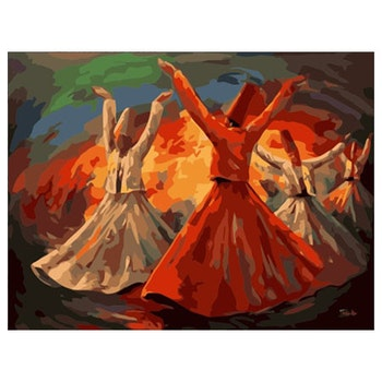 Paint By Numbers Oriental Dancing 40x50