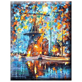 Paint By Numbers Color Windmill 40x50