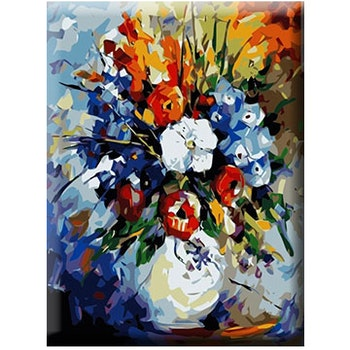 Paint By Numbers Färgsprakande Blomsterbukett 40x50