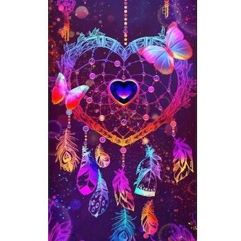 Diamanttavla Deamcatcher Love 50x100