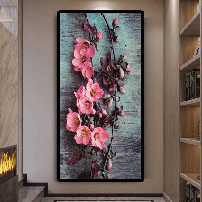 Diamanttavla Peach Blossom 80x120