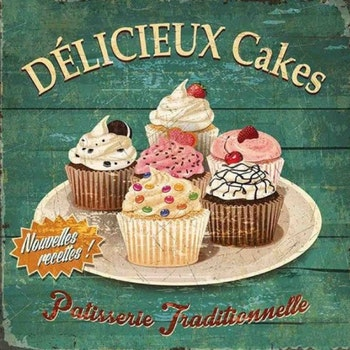Diamanttavla French Cupcakes 50x50