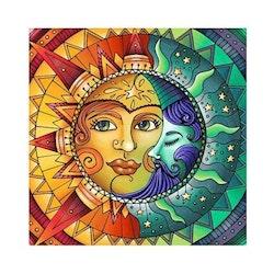 Diamanttavla Sun And Moon 50x50