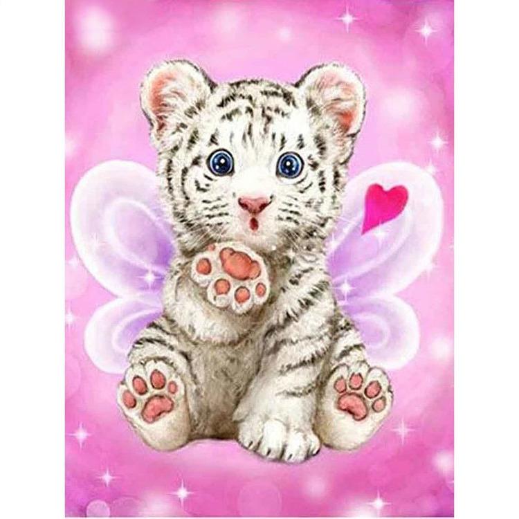 Diamanttavla (R) Cute Tiger 30x40