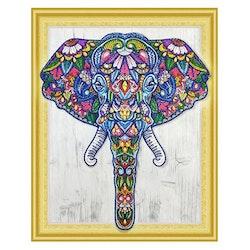 Diamanttavla Special Elephant 40x50