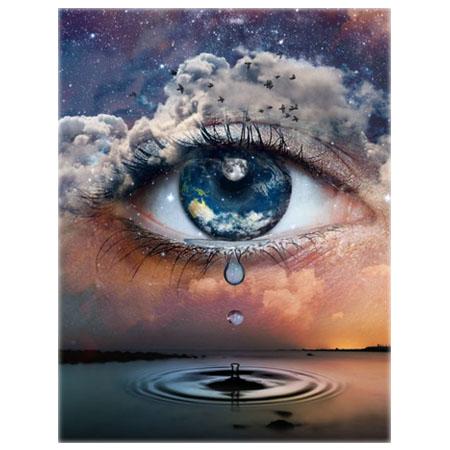 Diamanttavla Universe Eye Drop 50x70