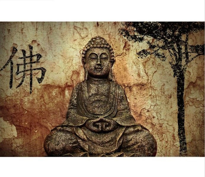 Diamanttavla Buddha Statue 70x90