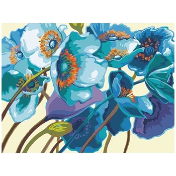 Paint By Numbers Blue Poppy 40x50