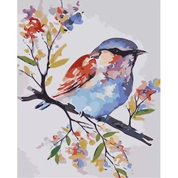Paint By Numbers Little Color Bird 40x50