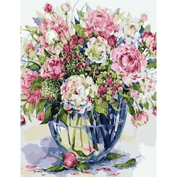 Paint By Numbers Blommor I Glasvas 40x50