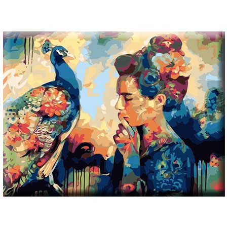 Paint By Numbers Beauty And Peacock 40x50