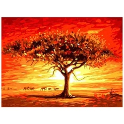 Paint By Numbers African Tree 40x50