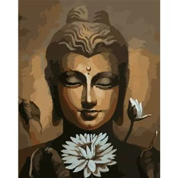 Paint By Numbers Buddha Lotus 40x50