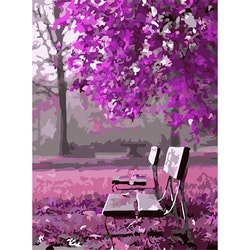 Paint By Numbers Purple Autum 40x50