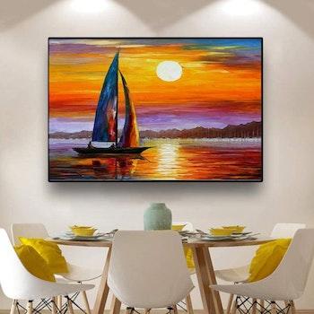 Diamanttavla (R) Sailing In Sunset 50x70